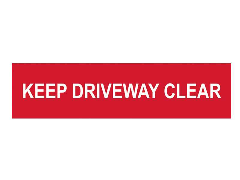 Thumbnail image of Scan Keep Driveway Clear - PVC 200 x 50mm
