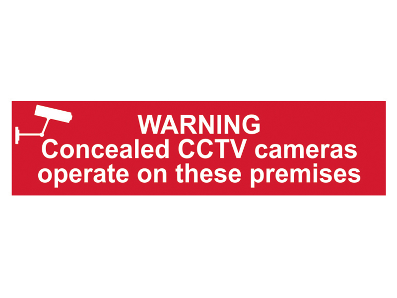 Thumbnail image of Scan Warning Concealed CCTV Cameras Operate On These Premises - PVC 200 x 50mm