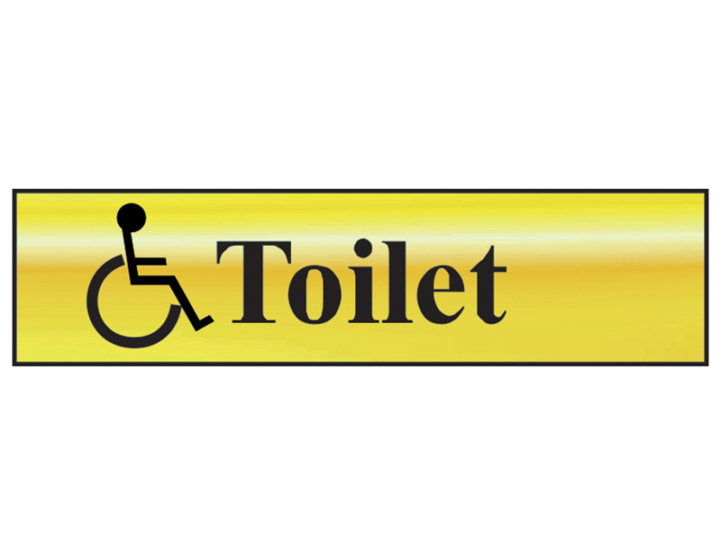 Thumbnail image of Scan Disabled Toilet - Polished Brass Effect 200 x 50mm