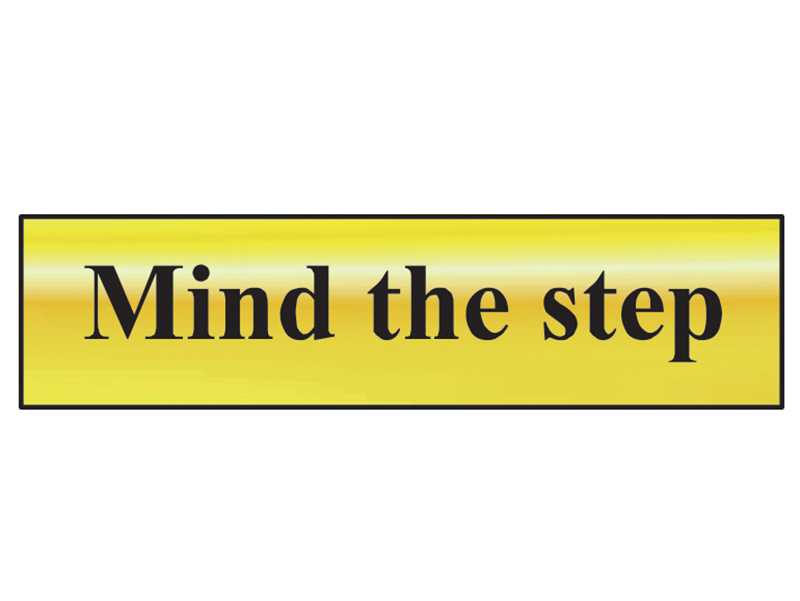 Thumbnail image of Scan Mind The Step - Polished Brass Effect 200 x 50mm