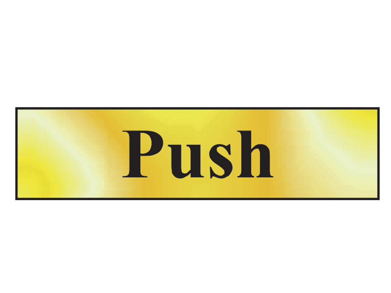 Thumbnail image of Scan Push - Polished Brass Effect 200 x 50mm