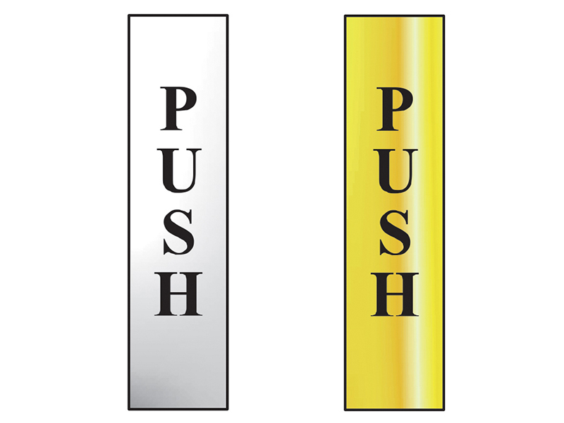 Thumbnail image of Scan Push Vertical - Polished Brass Effect 50 x 200mm