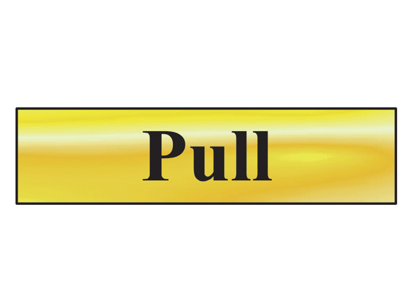 Thumbnail image of Scan Pull - Polished Brass Effect 200 x 50mm