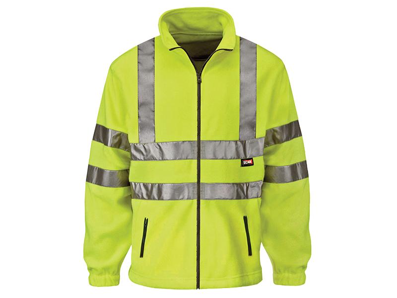 Thumbnail image of Scan Hi-Vis Yellow Full Zip Fleece - XXL (50in)