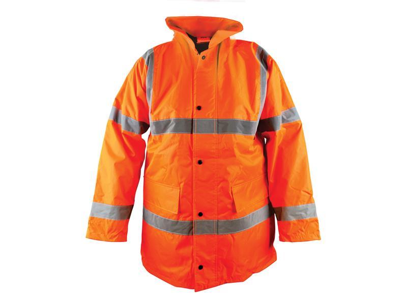 Thumbnail image of Scan Hi-Vis Orange Motorway Jacket - M (41in)