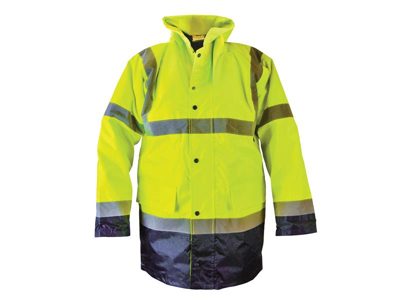 Thumbnail image of Scan Hi-Vis Yellow/Black Motorway Jacket - XL (48in)