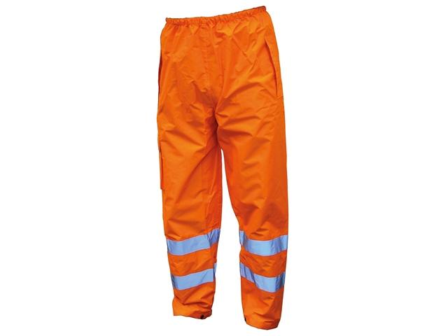 Thumbnail image of Scan Hi-Vis Orange Motorway Trousers - L (40in)