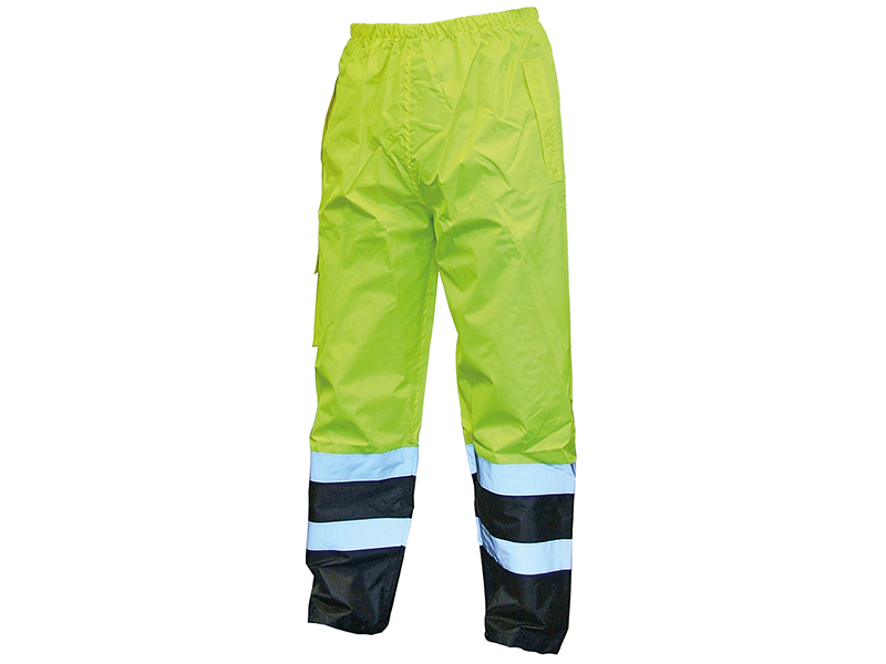 Thumbnail image of Scan Hi-Vis Yellow/Black Motorway Trousers - L (40in)