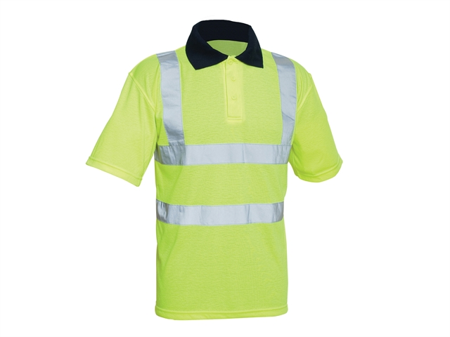 Thumbnail image of Scan Hi-Vis Yellow Polo Shirt - L (42in)