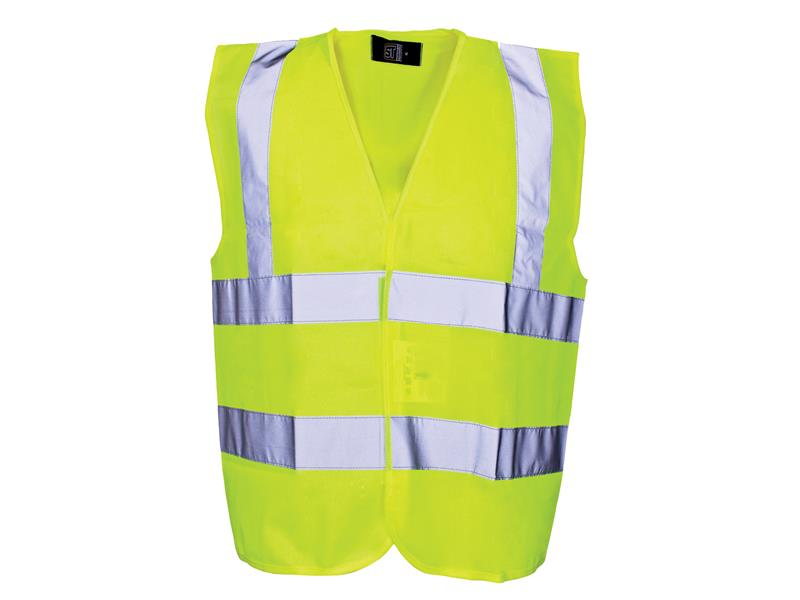 Thumbnail image of Scan Hi-Vis Yellow Waistcoat - Child 7-9 (32in)