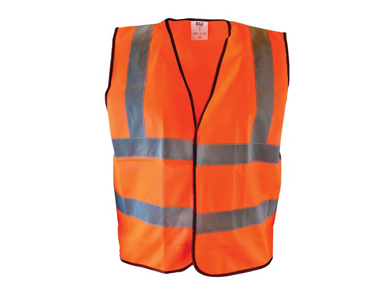 Thumbnail image of Scan Hi-Vis Orange Waistcoat - XL (48in)
