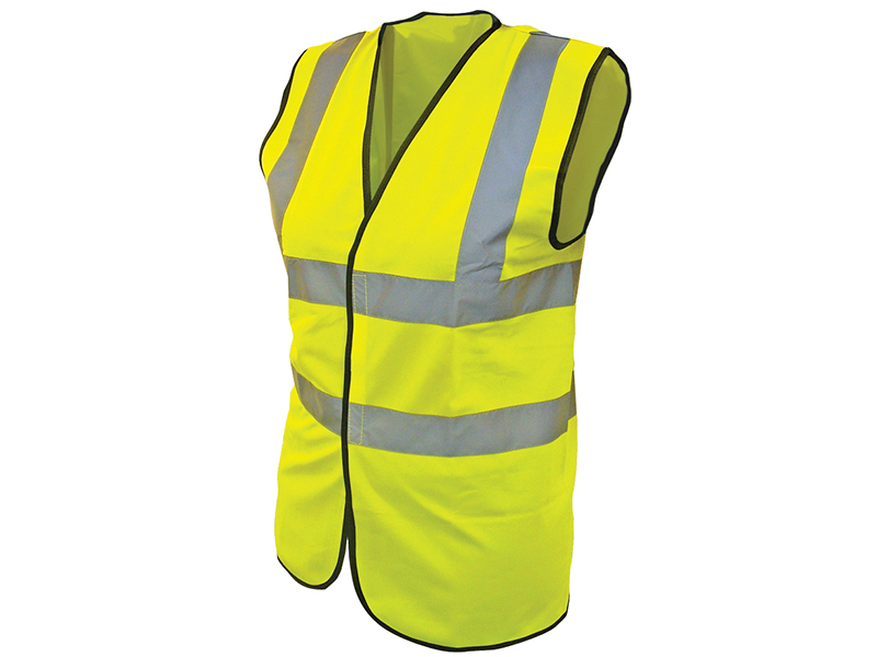 Thumbnail image of Scan Hi-Vis Yellow Waistcoat - Child 10-13 (35in)