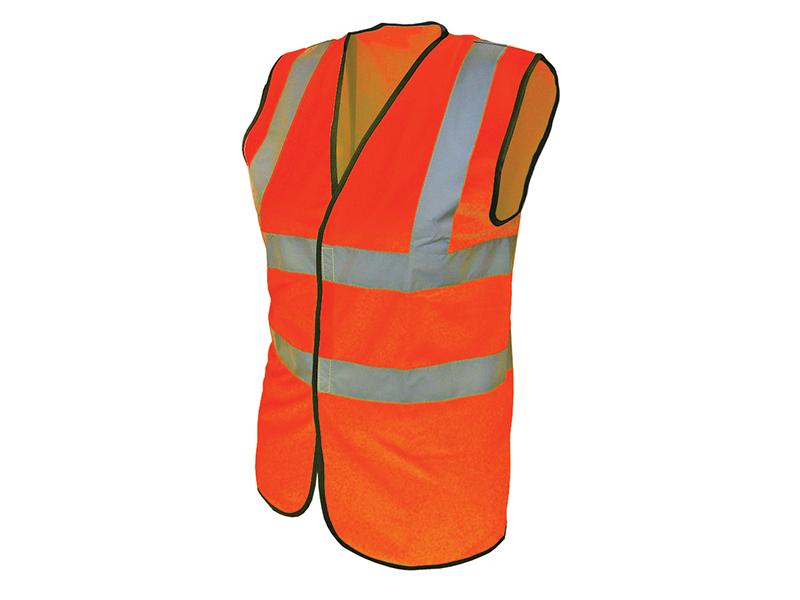 Thumbnail image of Scan Hi-Vis Orange Waistcoat - L (44in)
