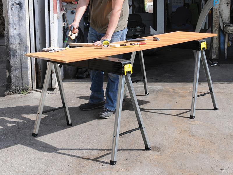 Thumbnail image of Stanley Folding Metal Leg Sawhorses (Twin Pack)
