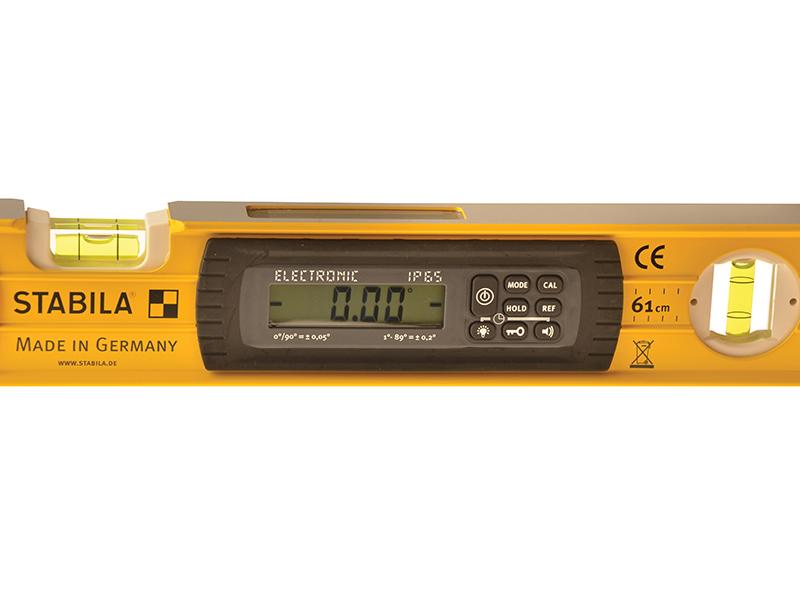 Thumbnail image of Stabila 196-2 Electronic Spirit Level IP65 3 Vial 17706 183cm