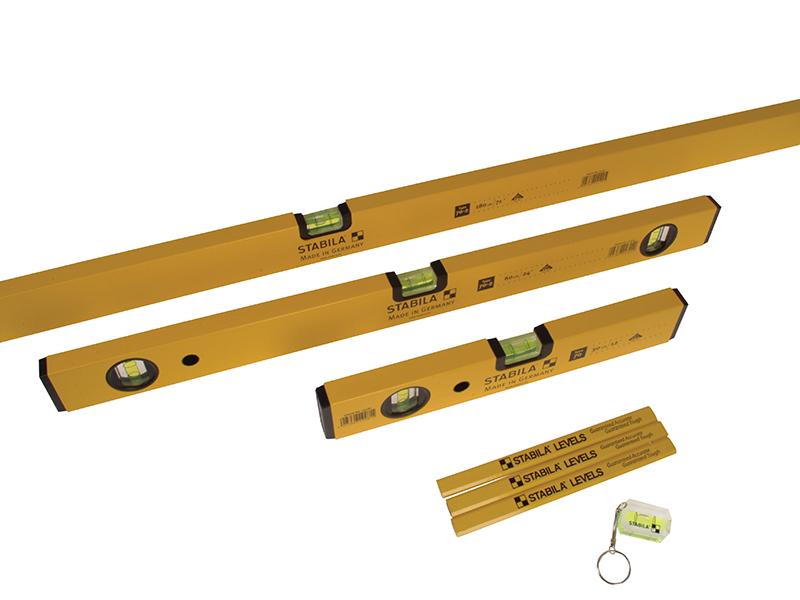 Thumbnail image of Stabila 70-2 Double Plumb Spirit Level Pack 30cm 60cm & 180cm
