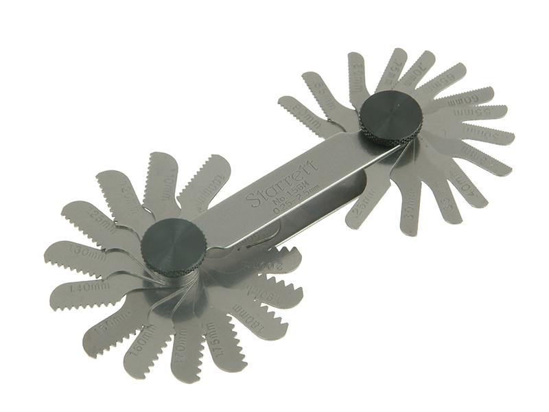 Thumbnail image of Starrett 156M Screw Pitch Gauge 0.25 - 2.50mm