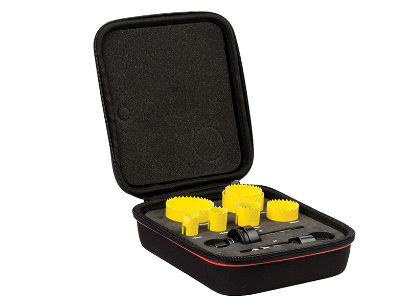 Thumbnail image of Starrett KFC07021 Fast Cut Bi-Metal Plumber's Holesaw Kit, 9 Piece