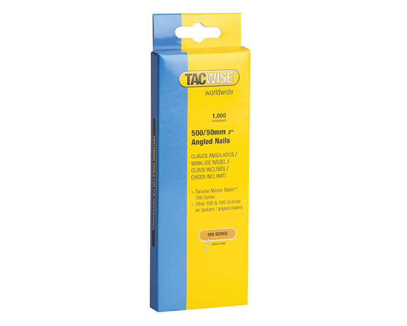 Thumbnail image of Tacwise 500 18 Gauge 50mm Angled Nails Pack 1000