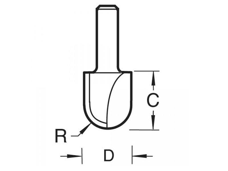 Thumbnail image of Trend 12/3 x 1/4 TCT Radius Cutter 3.0mm Radius