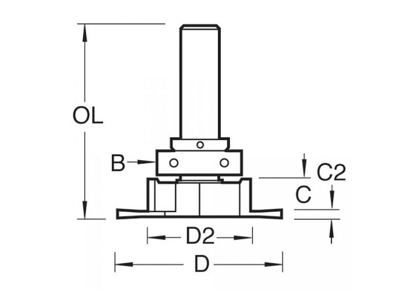 Thumbnail image of Trend 334 x 1/2 TCT Aquamac Recessor