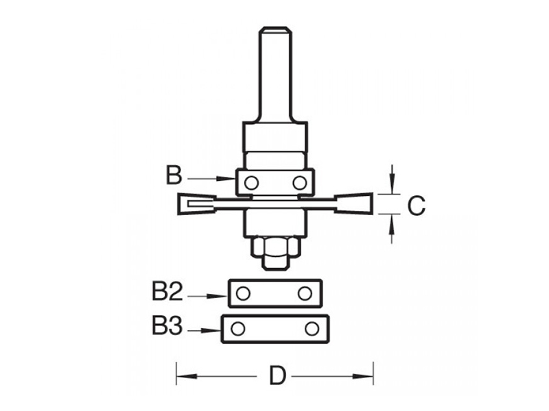 Thumbnail image of Trend 342 x 1/4 TCT Bearing Guided Biscuit Jointer 4.0 x 40mm