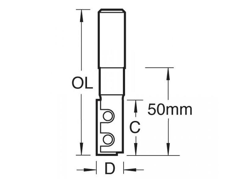 Thumbnail image of Trend RT/11M x 1/2 TC Straight Blade Rota-Tip 12.7mm x 89mm