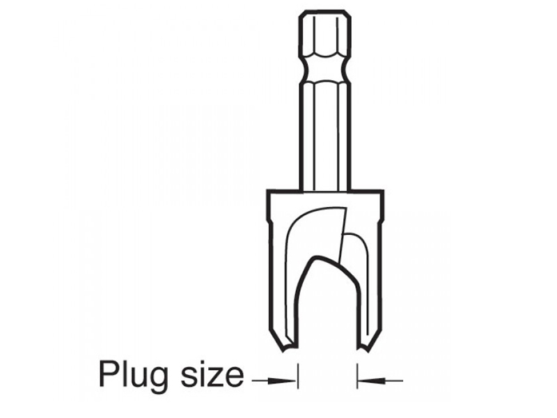 Thumbnail image of Trend SNAP/PC/12 Plug Cutter 1/2in