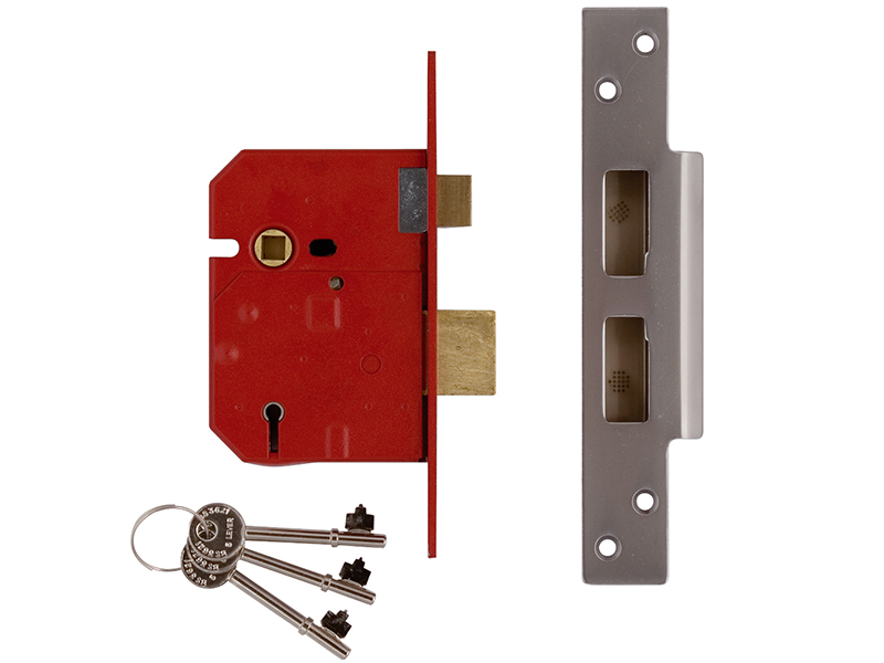 Thumbnail image of Union 2234E 5 Lever BS Mortice Sashlock Plated Brass Finish 79.5mm 3in Box