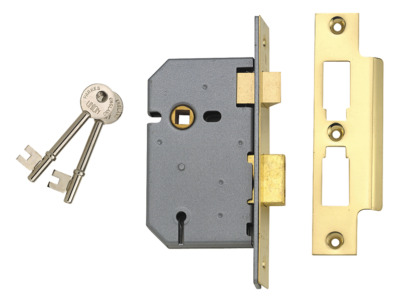 Thumbnail image of Union 2277 3 Lever Mortice Sashlock Satin Chrome 77.5mm 3in Box
