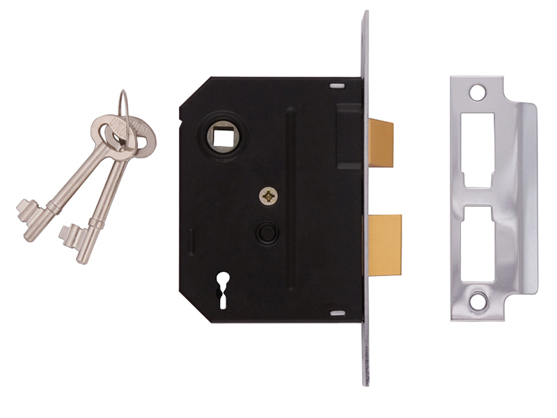 Thumbnail image of Union 2295 2 Lever Mortice Sashlock Polished Brass 63mm 2.5in Box