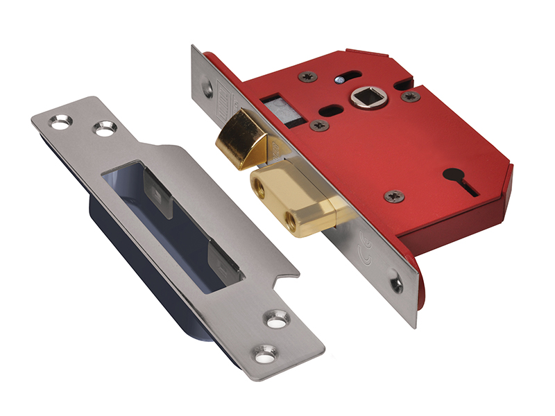 Thumbnail image of Union StrongBOLT 2203S 3 Lever Mortice Sashlock Stainless Steel 68mm 2.5in Visi