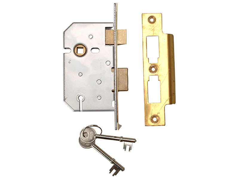 Thumbnail image of Union 2277 3 Lever Mortice Sashlock Polished Brass 65mm 2.5in Visi
