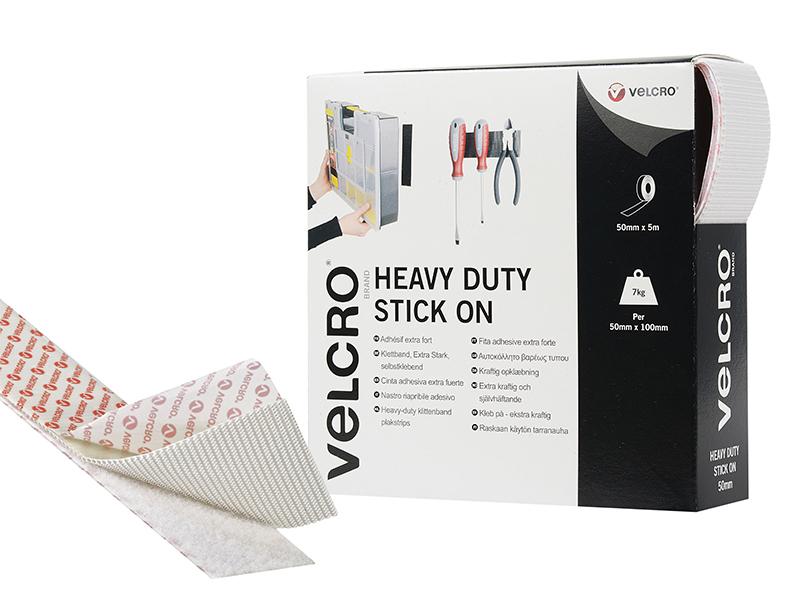Thumbnail image of Velcro VELCRO® Brand Heavy-Duty Stick On Tape 50mm x 5m White
