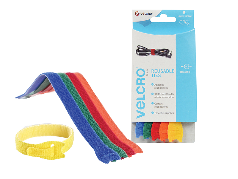 Thumbnail image of Velcro VELCRO® Brand ONE-WRAP® Reusable Ties (5) 12mm x 20cm Multi-Colour