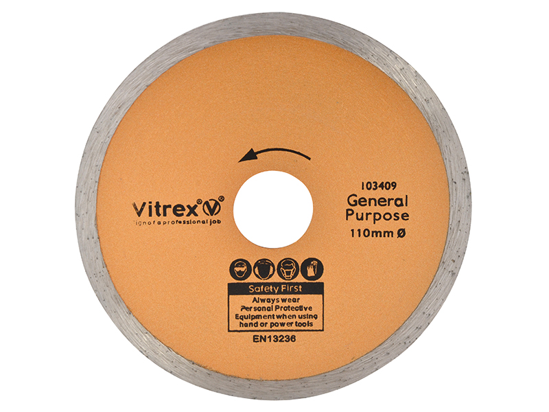 Thumbnail image of Vitrex Standard Diamond Blade 110mm