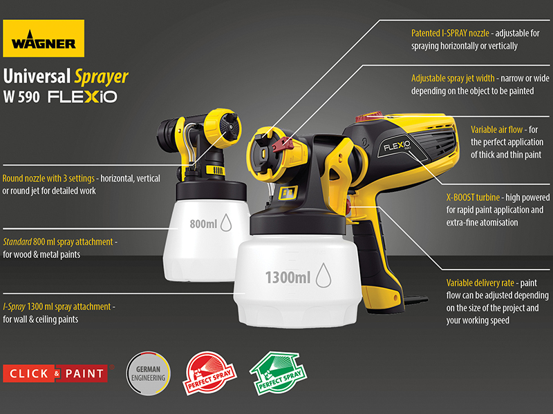 Thumbnail image of Wagner W 590 Universal Sprayer 630W 240V