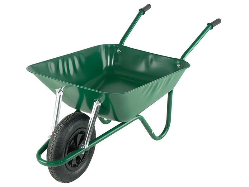 Thumbnail image of Walsall Boxed 85L Green Easi-Load Builders Wheelbarrow