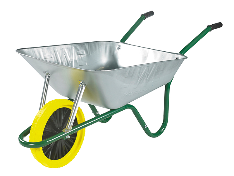 Thumbnail image of Walsall Boxed 85L Galvanised Easi-Load Builders Wheelbarrow - Puncture Proof