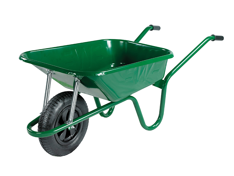 Thumbnail image of Walsall 90L Green Builders Wheelbarrow