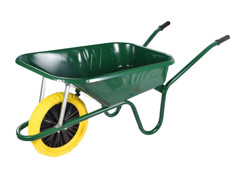 Thumbnail image of Walsall 90L Green Builders Wheelbarrow - Puncture Proof