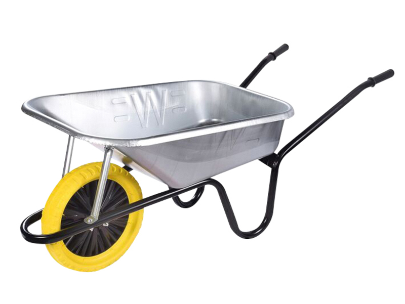 Thumbnail image of Walsall 90L Galvanised Builders Wheelbarrow - Puncture Proof