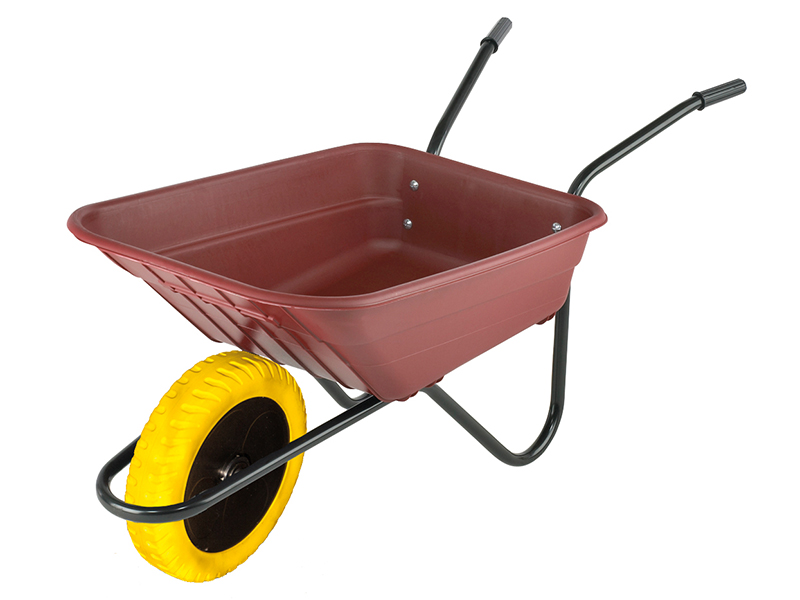 Thumbnail image of Walsall Boxed 90L Burgundy Polypropylene Wheelbarrow - Puncture Proof