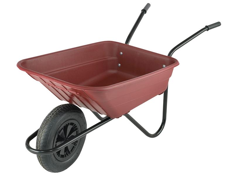 Thumbnail image of Walsall Boxed 90L Burgundy Polypropylene Wheelbarrow