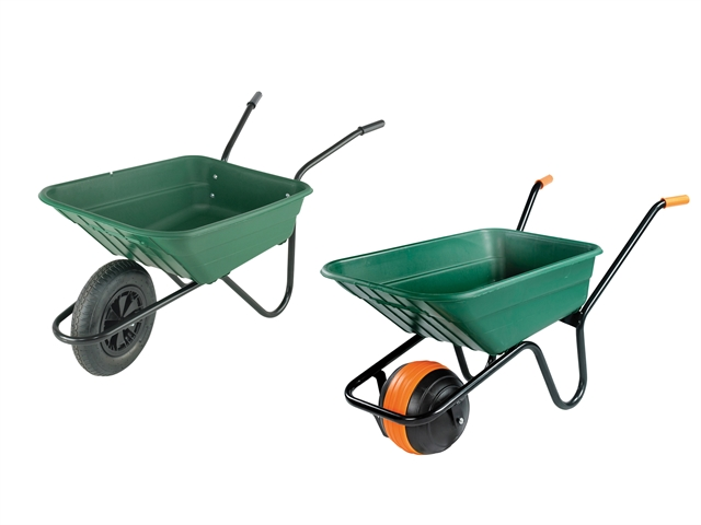 Thumbnail image of Walsall Boxed 90L Green Polypropylene Wheelbarrow