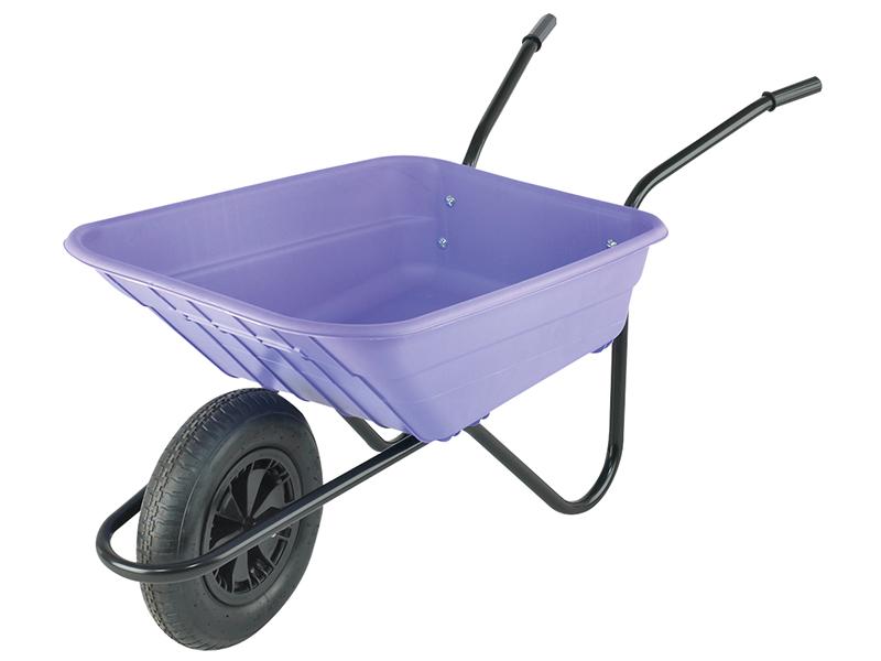 Thumbnail image of Walsall Boxed 90L Lilac Polypropylene Wheelbarrow