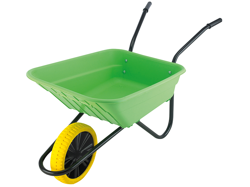 Thumbnail image of Walsall Boxed 90L Lime Polypropylene Wheelbarrow - Puncture Proof