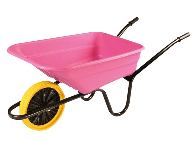Thumbnail image of Walsall Boxed 90L Pink Polypropylene Wheelbarrow - Puncture Proof