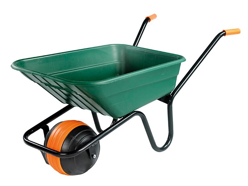 Thumbnail image of Walsall 90L Green Polypropylene Wheelbarrow - Duraball
