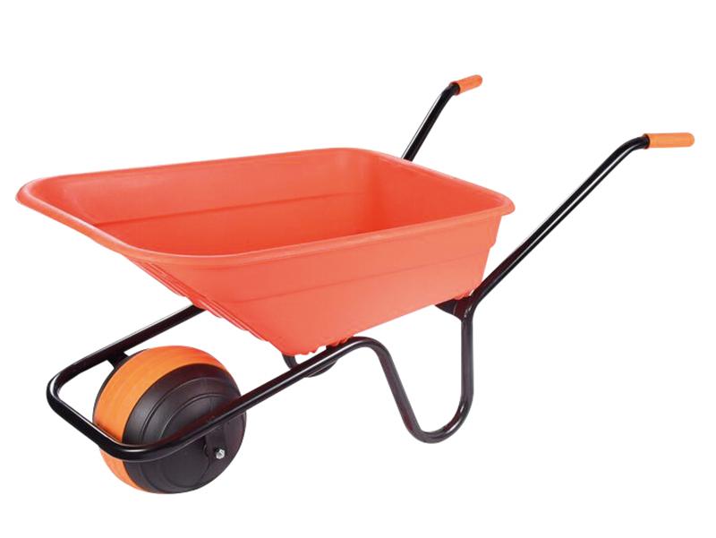 Thumbnail image of Walsall 90L Orange Polypropylene Wheelbarrow - Duraball